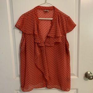 Woman's Worthington flutter sleeve blouse XL